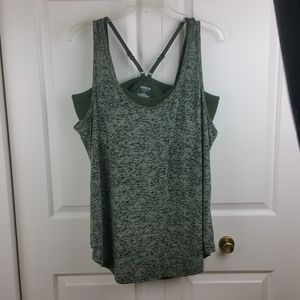 Torrid Active Grn Tank Bra Hookup Size 1 NWT